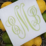 Summer Entertaining Essential: Monogrammed Napkins