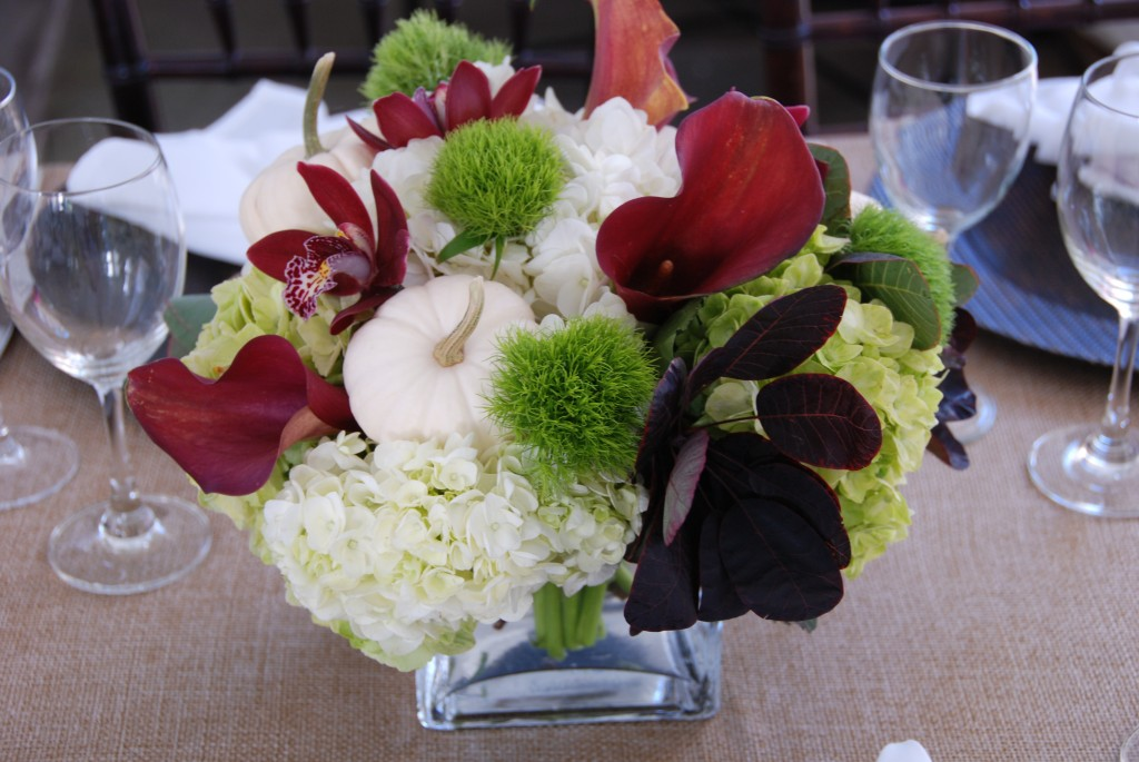 Fall dinner party centerpieces