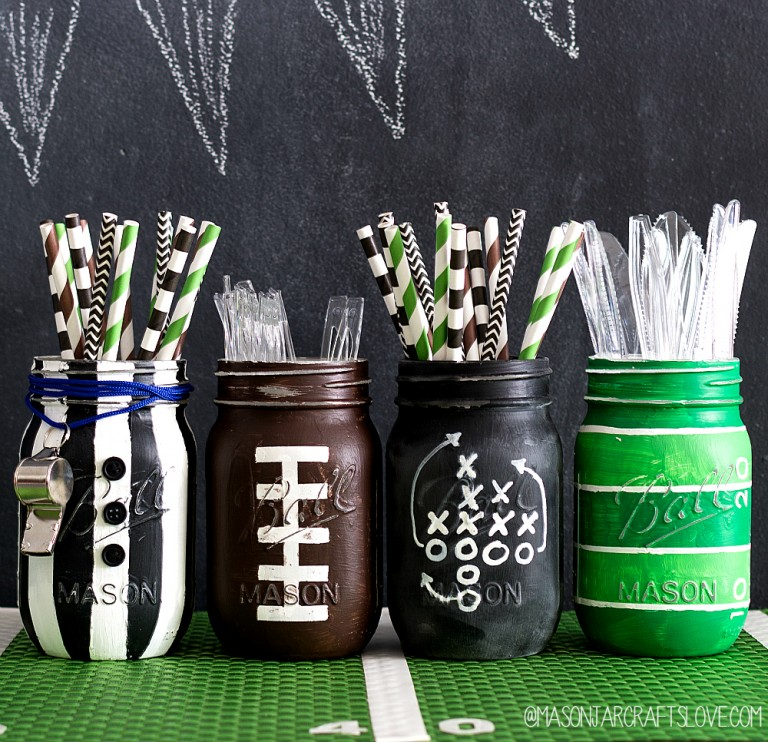 football-party-mason-jars