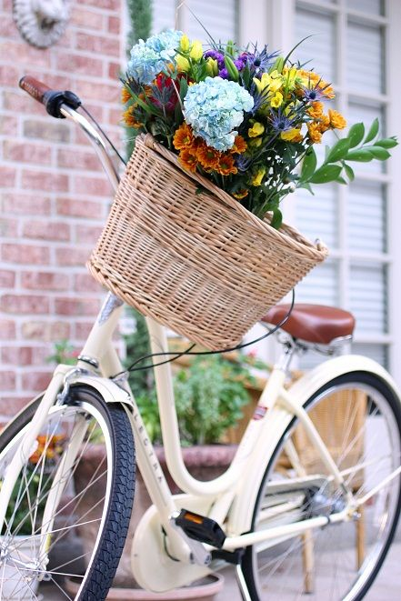 my bike with flowers